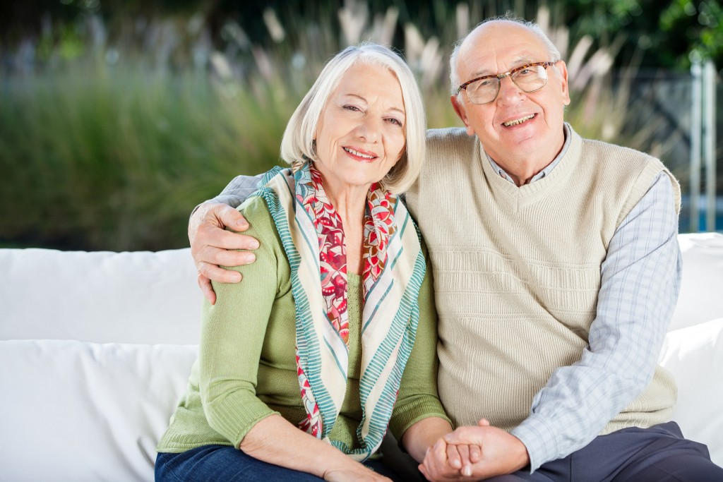 happy senior couple in retirement
